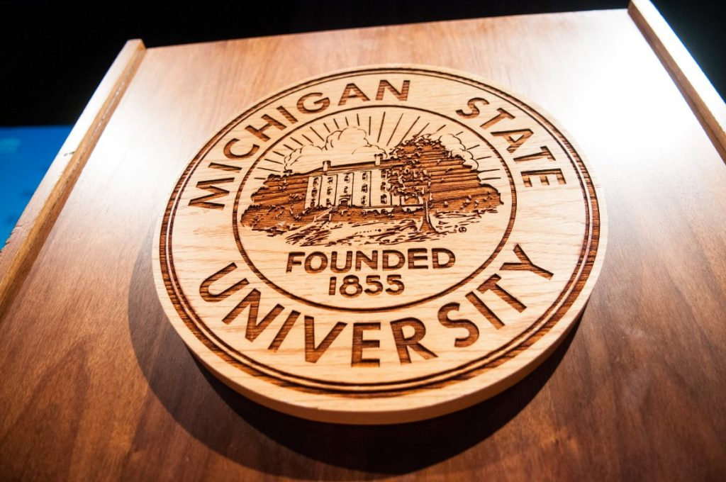 Seal of Michigan State University Founded 1855